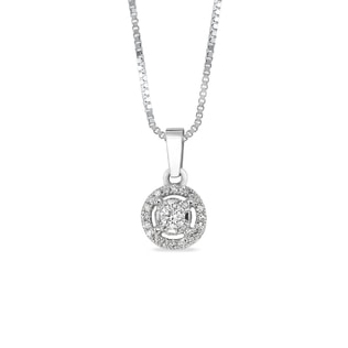 GOLD DIAMOND PENDANT - WHITE GOLD PENDANTS - PENDANTS