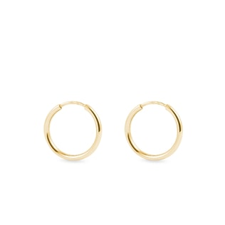 Gold hoop earrings for children