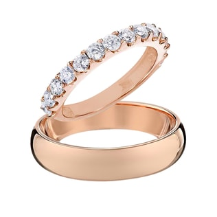 WEDDING RINGS IN 14KT ROSE GOLD - ROSE GOLD RINGS - WEDDING RINGS