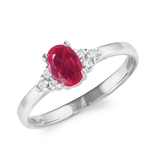RUBY RING IN WHITE GOLD - ENGAGEMENT GEMSTONE RINGS - ENGAGEMENT RINGS