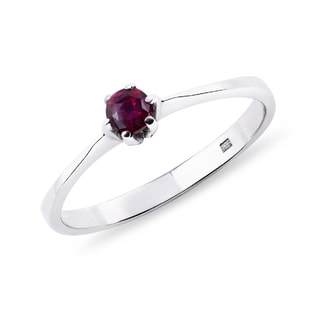 SILVER RING WITH PINK TOURMALINE - TOURMALINE RINGS - RINGS