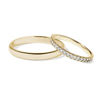 Wedding ring in 14kt yellow gold