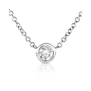 DIAMOND NECKLACE IN 14KT WHITE GOLD - DIAMOND PENDANTS - PENDANTS