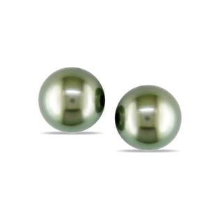 TAHITIAN PEARL STUD EARRINGS IN 14KT GOLD - TAHITIAN PEARLS JEWELLERY - PEARL JEWELLERY