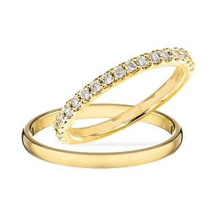 WEDDING RING IN 14KT YELLOW GOLD - DIAMOND WEDDING RINGS - WEDDING RINGS