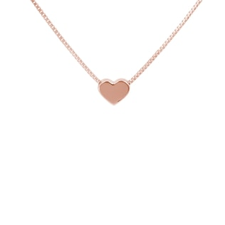 HEART NECKLACE IN 14KT ROSE GOLD - HEART PENDANTS - PENDANTS