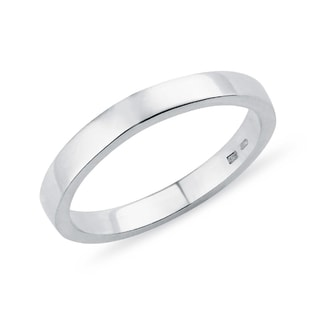 Simple men's wedding ring in silver