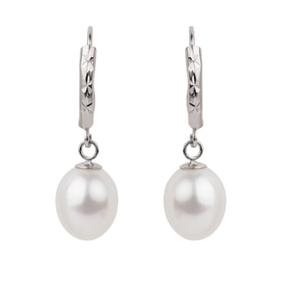 PEARL EARRINGS FROM STERLING SILVER - PEARL EARRINGS - PEARL JEWELLERY