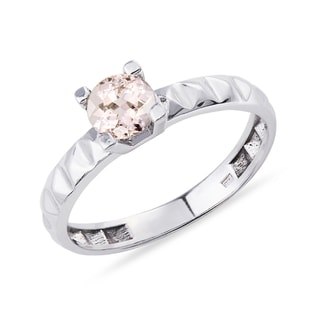 MORGANITE RING CRAFTED IN GOLD - GEMSTONE RINGS - RINGS