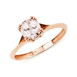 RING WITH MORGANITE - GEMSTONE RINGS - RINGS