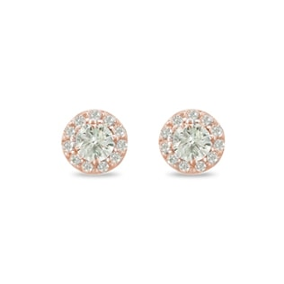 DIAMOND EARRINGS IN 14KT ROSE GOLD - DIAMOND EARRINGS - EARRINGS