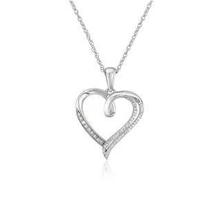 Silver heart with diamonds