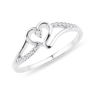 SILVER DIAMOND RING - DIAMOND RINGS - RINGS