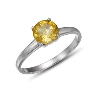CITRINE STERLING SILVER RING - CITRINE RINGS - RINGS