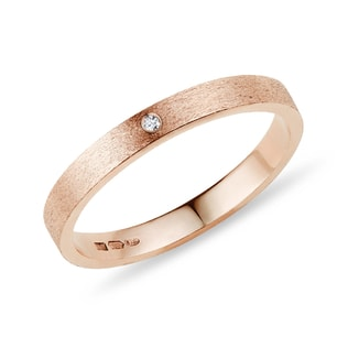 WEDDING RING WITH DIAMOND - RINGS FOR HER - WEDDING RINGS