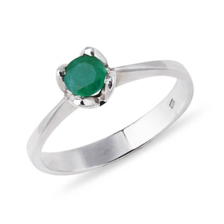 EMERALD RING IN STERLING SILVER - STERLING SILVER RINGS - RINGS