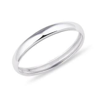 WOMEN'S WEDDING BAND IN 14KT WHITE GOLD - RINGS FOR HIM - WEDDING RINGS