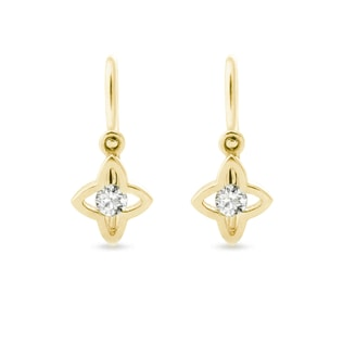 BABY DIAMOND 14KT GOLD EARRINGS - YELLOW GOLD EARRINGS - EARRINGS
