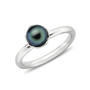 PEARL RING IN STERLING SILVER - PEARL RINGS - PEARL JEWELLERY
