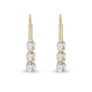 Diamond earrings made of yellow gold