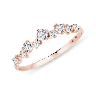 ROSE GOLD RING WITH DIAMONDS - RINGS FOR HER - WEDDING RINGS