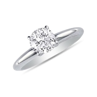 ENGAGEMENT RING IN 14KT WHITE GOLD - SOLITAIRE ENGAGEMENT RINGS - ENGAGEMENT RINGS