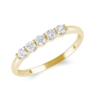 GOLD RING WITH DIAMONDS - RINGS FOR HER - WEDDING RINGS