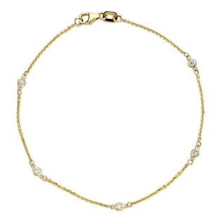 DIAMOND BRACELET IN 14KT GOLD - WOMEN'S BRACELETS - FINE JEWELLERY