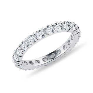 DIAMOND WEDDING RING IN WHITE GOLD - RINGS FOR HER - WEDDING RINGS
