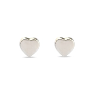 HEART EARRINGS IN 14KT GOLD - WHITE GOLD EARRINGS - EARRINGS