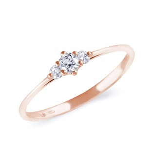 DIAMOND ENGAGEMENT RING IN ROSE GOLD - ROSE GOLD ENGAGEMENT RINGS - ENGAGEMENT RINGS