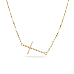 GOLD CROSS NECKLACE - CROSS PENDANTS - PENDANTS