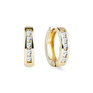 Baby CZ 14kt gold earrings