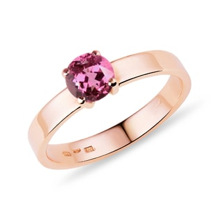 TOURMALINE 14KT ROSE GOLD RING - TOURMALINE RINGS - RINGS