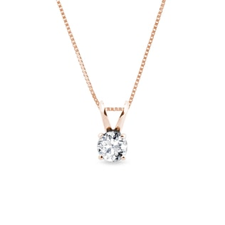 DIAMOND PENDANT IN 14KT ROSE GOLD - DIAMOND PENDANTS - PENDANTS