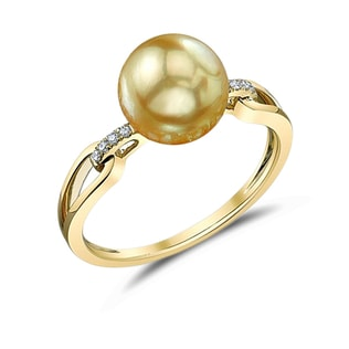 PEARL RING IN 14KT YELLOW GOLD - SOUTH PACIFIC PEARLS JEWELLERY - PEARL JEWELLERY