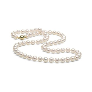 GOLD PEARL NECKLACE - PEARL NECKLACES - PEARL JEWELLERY