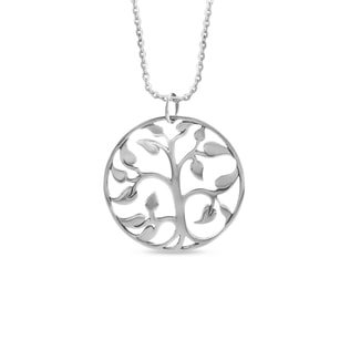 """TREE OF LIFE"" PENDANT IN STERLING SILVER - STERLING SILVER FINE JEWELLERY - FINE JEWELLERY"