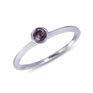 PINK SAPPHIRE RING IN STERLING SILVER - STERLING SILVER RINGS - RINGS