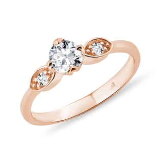DIAMOND RING IN ROSE GOLD - ENGAGEMENT DIAMOND RINGS - ENGAGEMENT RINGS