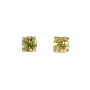 PERIDOT EARRINGS IN 14KT SOLID GOLD - PERIDOT EARRINGS - EARRINGS