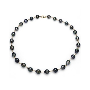 TAHITIAN PEARL NECKLACE IN 14KT GOLD - TAHITIAN PEARLS JEWELLERY - PEARL JEWELLERY