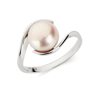 PINK FRESHWATER PEARL RING IN 14KT GOLD - PEARL RINGS - PEARL JEWELLERY