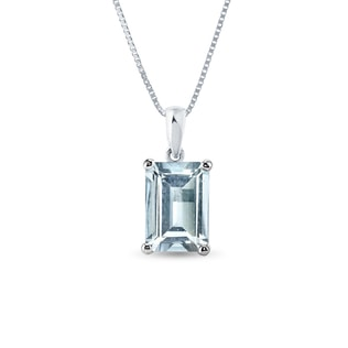 AQUAMARINE PENDANT IN 14KT GOLD - AQUAMARINE PENDANTS - PENDANTS
