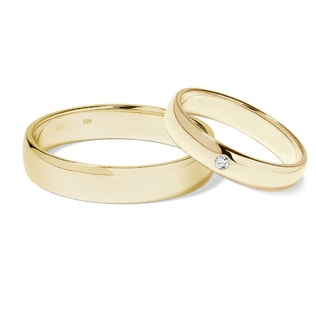 DIAMOND 14KT GOLD WEDDING RINGS - DIAMOND WEDDING RINGS - WEDDING RINGS