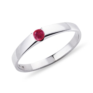 GOLD RUBY ​​RING - WHITE GOLD RINGS - RINGS