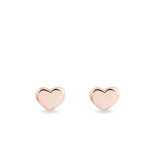 EARRINGS IN THE SHAPE OF HEARTS - MINIMALISTIC JEWELRY - FINE JEWELRY