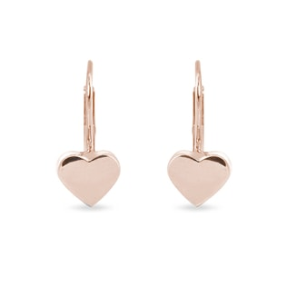 HEART-SHAPED EARRINGS IN ROSE GOLD - ROSE GOLD EARRINGS - EARRINGS