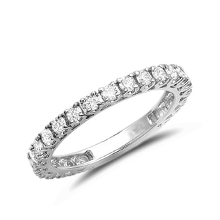 DIAMOND 14KT GOLD WEDDING RING - RINGS FOR HER - WEDDING RINGS