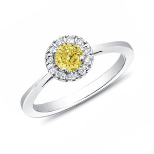 ENGAGEMENT RING WITH A YELLOW DIAMOND - DIAMOND FINE JEWELLERY - FINE JEWELLERY